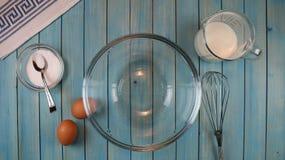 Składniki królewska masa na kuchennym stole Skład, naturalny fotografia royalty free