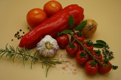Składniki robić Włoskiemu makaronu kumberlandowi obraz stock