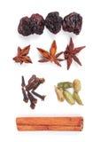 składniki rozmyślający przygotowania ustalony wino Fotografia Royalty Free