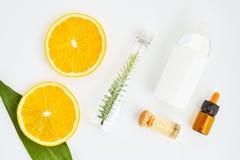 Składniki skóry opieki produkty I miód w szkle obraz stock