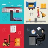 Składować i logistyk procesy ilustracji