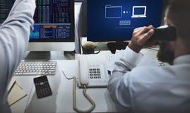 Składowy Online transfer danych synchronizaci technologie informacyjne pojęcie Obrazy Stock