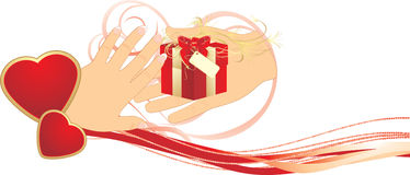 składu dzień prezenta romans valentines Zdjęcie Stock