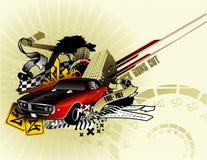 składu samochodowy klasyczny wektor Zdjęcie Royalty Free