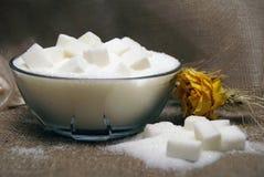 składu sześcianów cukier Fotografia Stock