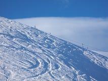 skłonów narciarscy ślada obrazy royalty free