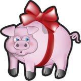 skłoniona świnia Obraz Royalty Free