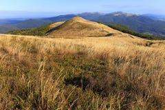 Skłony Bieszczady góry w Południowo-wschodni Polska, Bieszczadzki parku narodowym - zdjęcie stock