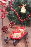 Skład Choinka ciastka i Zdjęcia Stock