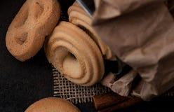 Skład ciastka jest na stole Fotografia Stock