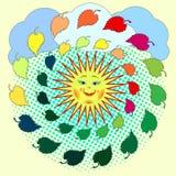 Skład dekoracyjni dandelions Obrazy Royalty Free