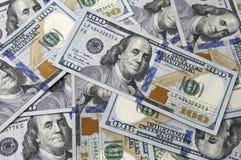 Skład sto dolarów banknotów Fotografia Stock