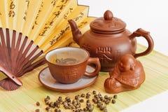 skład zielona herbata Fotografia Stock