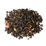 Skład zielona herbata prochu herbata z plasterkami fotografia royalty free
