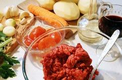 składników kulebiaka s baca Fotografia Royalty Free