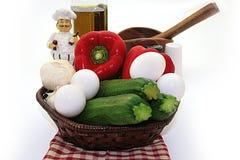 składnika omelette Zdjęcia Stock