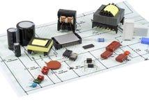 składnika plan elektryczny elektroniczny Obrazy Stock