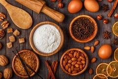 Składniki dla kulinarnego pieczenia Fotografia Stock