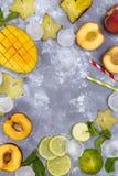Składniki dla owoc lata napojów Zdjęcie Royalty Free