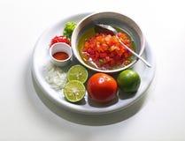 Składniki dla pomidorowego puree Zdjęcie Royalty Free