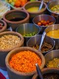 Składniki dla Som tama, Som tum lub x28; Tajlandzki melonowa salad& x29; Obrazy Stock