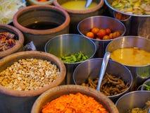 Składniki dla Som tama, Som tum lub x28; Tajlandzki melonowa salad& x29; Zdjęcia Royalty Free