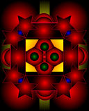 składu graficzny pentagonów gwiazd use Zdjęcia Royalty Free