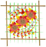 składu kwiatów panel Obrazy Royalty Free