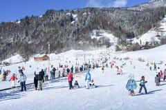 Skłon Engelberg w Szwajcarskich Alps Zdjęcia Royalty Free