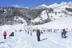 Skłon Engelberg w Szwajcarskich Alps Obrazy Stock