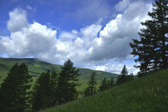 Skłon góra Zdjęcia Royalty Free