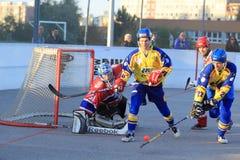 SK Kert Прага против SK Jihlava - чехословакского хоккея шарика Стоковые Изображения RF