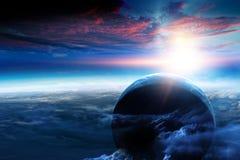 Sk?nhet f?r djupt utrymme Planetomlopp royaltyfria bilder