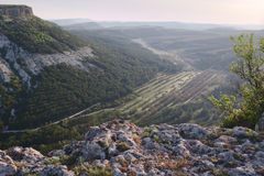 Skłony halny jar, Crimea, Bakhchisaraj Fotografia Royalty Free