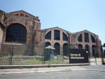 Skąpania Diocletian, Rzym zdjęcia royalty free