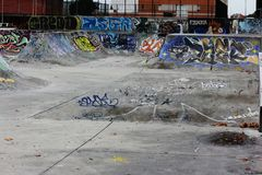 Sk8 park. A sk8 park in Caldas da Rainha - Portugal with great graffiti Royalty Free Stock Photos