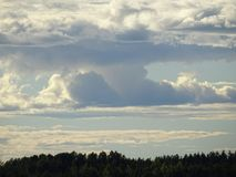 Sk przegląda w zatoce Finlandia Zdjęcia Royalty Free