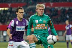 SK Rapid vs. Austria Wien Stock Photo