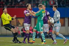 SK Rapid vs. Austria Wien Royalty Free Stock Images