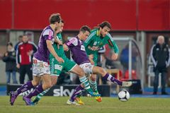 SK Rapid vs. Austria Wien Royalty Free Stock Image