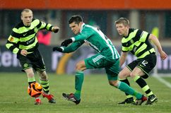 SK Rapid vs. Celtic Glasgow F.C. Royalty Free Stock Image