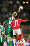 SK Rapid vs. Hapoel Tel Aviv Royalty Free Stock Images