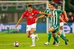 SK Rapid vs. Hapoel Tel Aviv Royalty Free Stock Photography