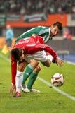 SK Rapid vs. Hapoel Tel Aviv Stock Images