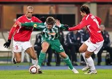 SK Rapid vs. Hapoel Tel Aviv Stock Image