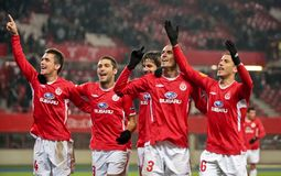 SK Rapid vs. Hapoel Tel Aviv Stock Images