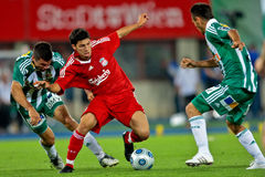 SK Rapid vs. Liverpool FC Stock Photo