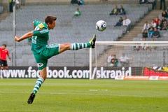 SK Rapid vs. Valencia FC Stock Images