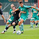 SK Rapid vs. Valencia FC Royalty Free Stock Photo