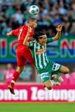 SK Snel versus Liverpool FC Stock Foto